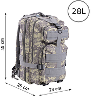 Милитари рюкзак для города 28L SK403BS-1 пиксель