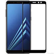 Защитное стекло Full cover 2.5D Premium Samsung A8 Black