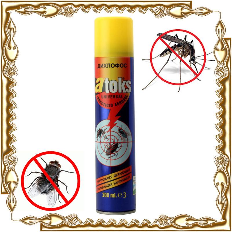 """Дихлофос """"ATOKS"""" (средство от летающих и ползающих насекомых) 200 мл."""