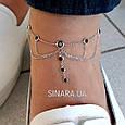 Браслет на ногу с висюльками серебро 925 - Серебряный браслет на ногу, фото 3