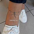Браслет на ногу с висюльками серебро 925 - Серебряный браслет на ногу, фото 2