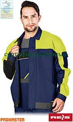 Куртка рабочая мужская REIS Польша (спецодежда роба униформа) PRO-J GYS