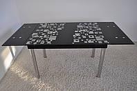 """Стіл скляний обідній розкладний Maxi DT TR 1100/800 """"панорама"""""""