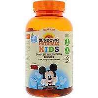 Sundown Naturals Kids, Мультивитаминные жевательные конфеты, Disney Mickey Mouse, груша, апельсин и вишня, 180 конфет