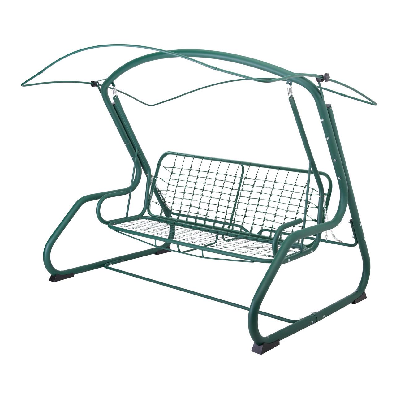витан Качели Алиса (Двусторонняя, Зеленый олефин + Дралон вертикальная полоса)в подарок Кресло-качалка 2140020