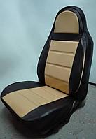 Чехлы на сиденья из кожзама , Автоткани, экокожа, Комбинированные, пилоты ВАЗ 2101