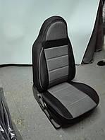 Чехлы на сиденья из кожзама , Автоткани, экокожа, Комбинированные, пилоты ВАЗ 2102, фото 1