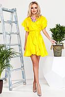 Шикарное летнее платье с поясом в 4х цветах JD Нарциси