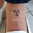 Браслет на ногу с висюльками Морской Якорь Серебро 925 пробы - Серебряный браслет на ногу, фото 2