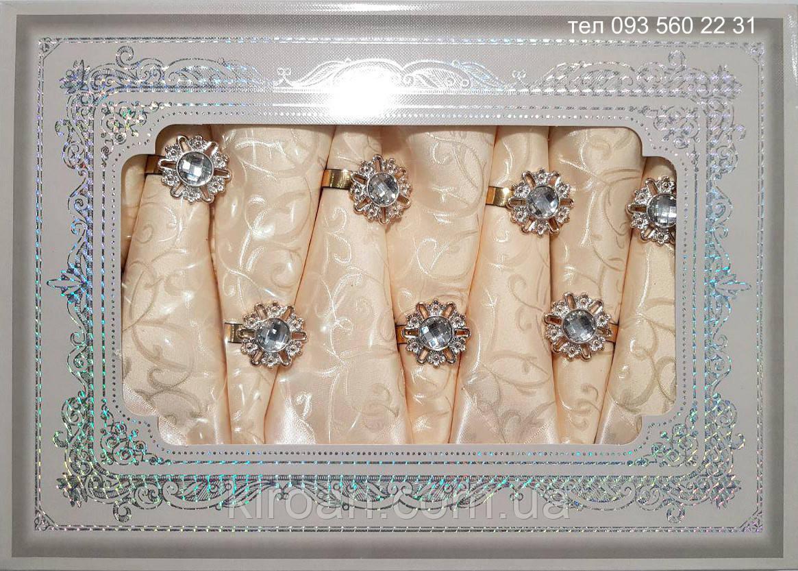 Тканевая скатерть с салфетками в подарочной упаковке АРТ-0821588 (бежево-персиковая)