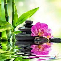 """Алмазная вышивка """"Орхидея и бамбук"""" (картина своими руками)"""