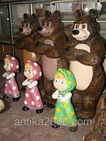 Керамическая скульптура для детей  Медведь (Серия Маша и Медведь)
