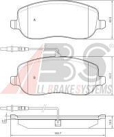 Колодки тормозные CITROEN/PEUGEOT C8/807 передние (ABS). 37329, фото 1