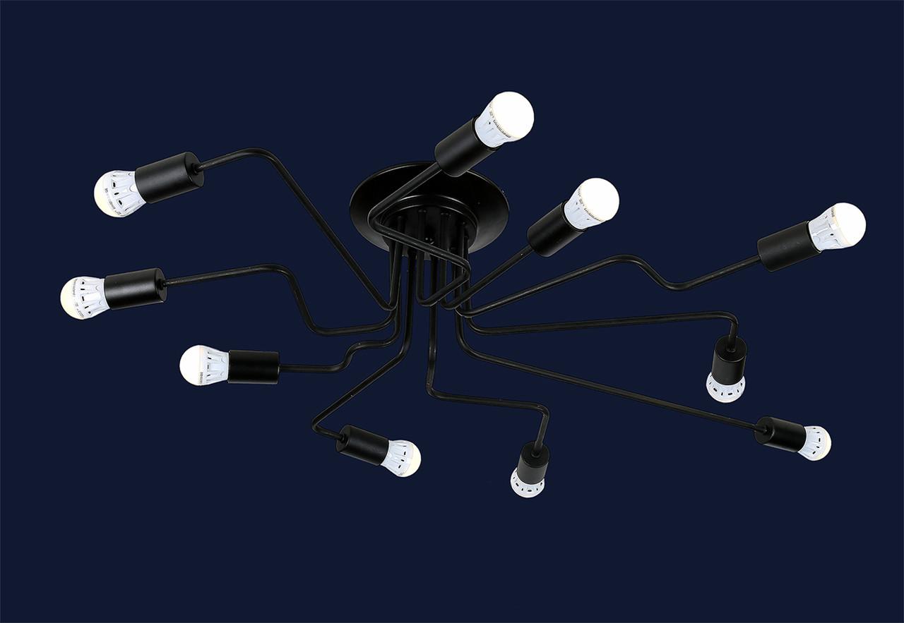 Потолочная люстра loft на 10 ламп 756PR0230-10 BK