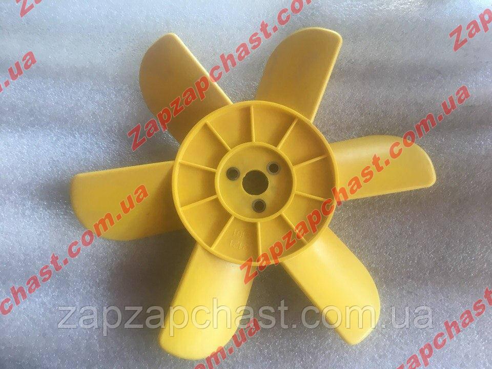 Крыльчатка Ваз  2101 2102 2103 2104 2105 2106 2107 6-ти лопастная желтая