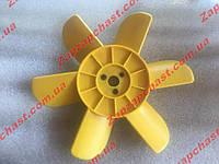 Крыльчатка Ваз  2101 2102 2103 2104 2105 2106 2107 6-ти лопастная желтая , фото 1