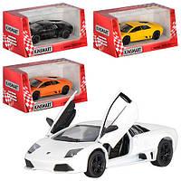 Машинка Lamborghini Murcielago LP 640 KT 5317 W інерційна, металева, 1:36, 4 кольори, в коробці, 16-7,5-8 см