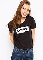 Женская футболка LEVIS ЧЕРНАЯ ХИТ 44, 46, 48 размер норма