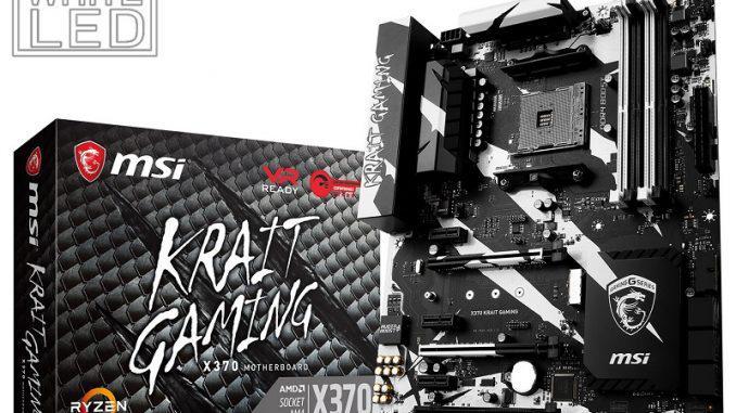 "Материнская плата MSI X370 Krait Gaming AM4 DDR4 ""Over-Stock"" Б/У"