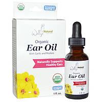 Wally's Natural Products, Органическое масло для ушей с маслом чеснока и коровяка, 1 жидкая унция