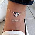 Браслет на ногу Серебро 925 пробы Глазик от сглаза - Серебряный браслет на ногу, фото 4