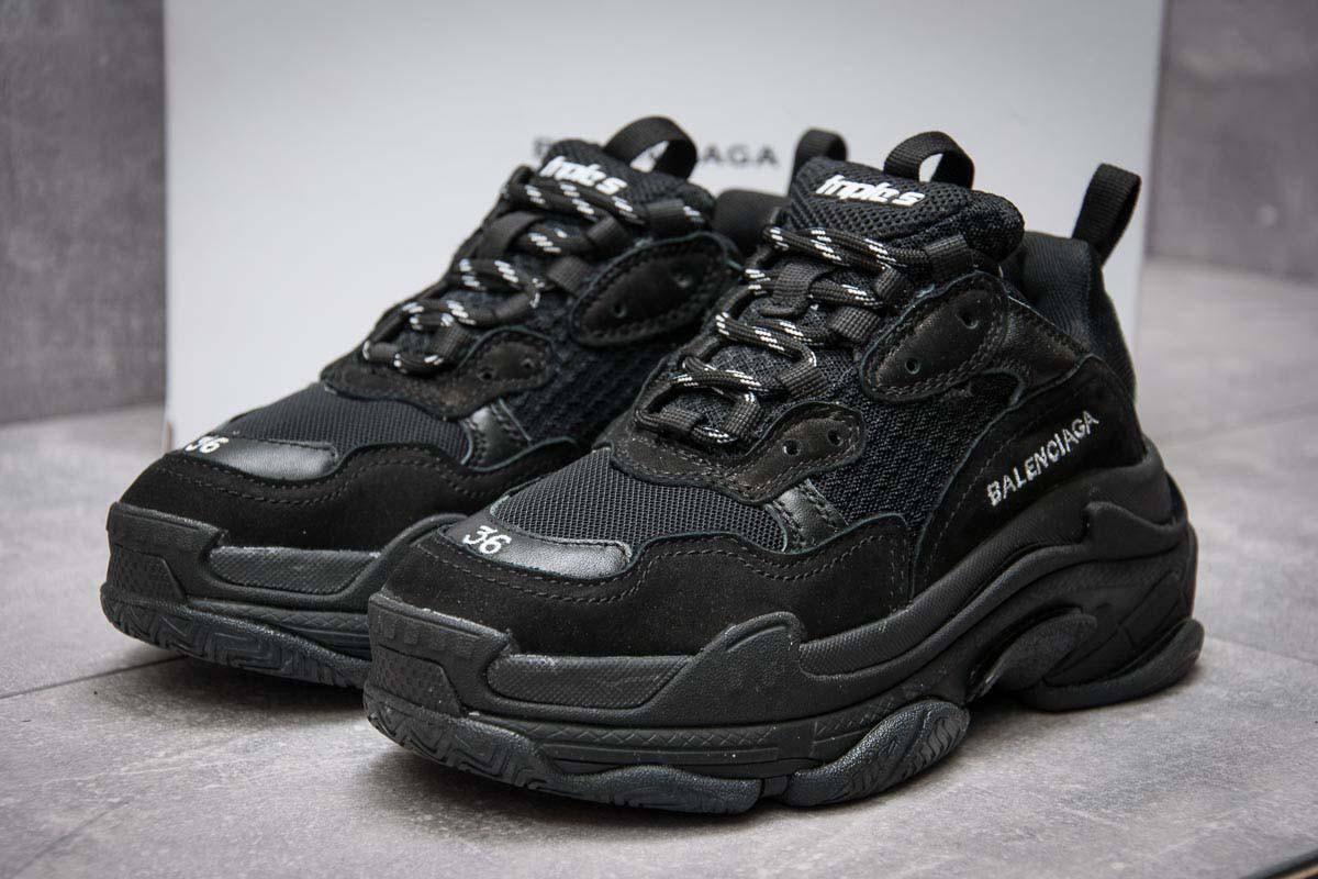 кроссовки женские Balenciaga Triple S черные 12373 40