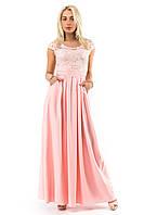 Розовое вечернее платье в пол