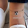 Браслет на ногу Серебро 925 Глазик - Серебряный браслет на ногу, фото 2