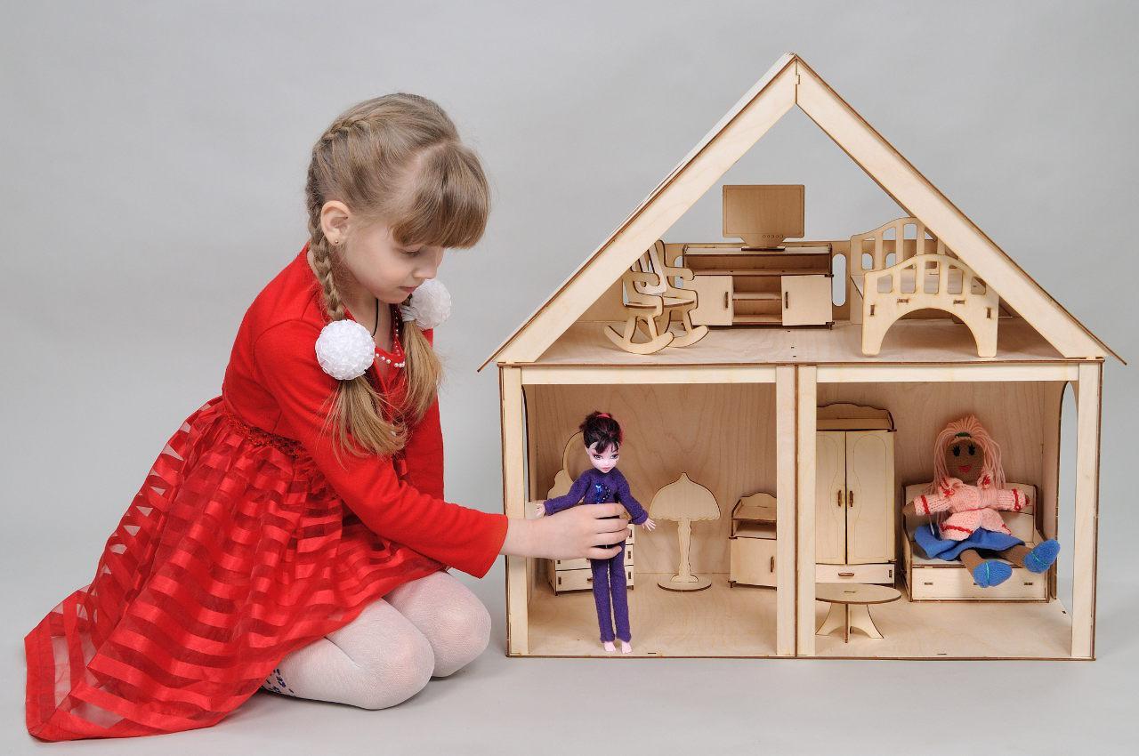 Кукольный домик FANA Особняк для Барби 3 комнаты/2 этажа (3003)