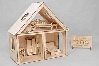 """Кукольный домик FANA """"Особняк для Барби"""" 3 комнаты/2 этажа, фото 3"""