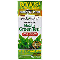 Purely Inspired, Чистый зеленый чай матча, 100 легких для глотания вегетарианских таблеток