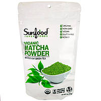 Sunfood, Органический порошок маття, Цельнолистовой зеленый чай, 4 унции (113 г)