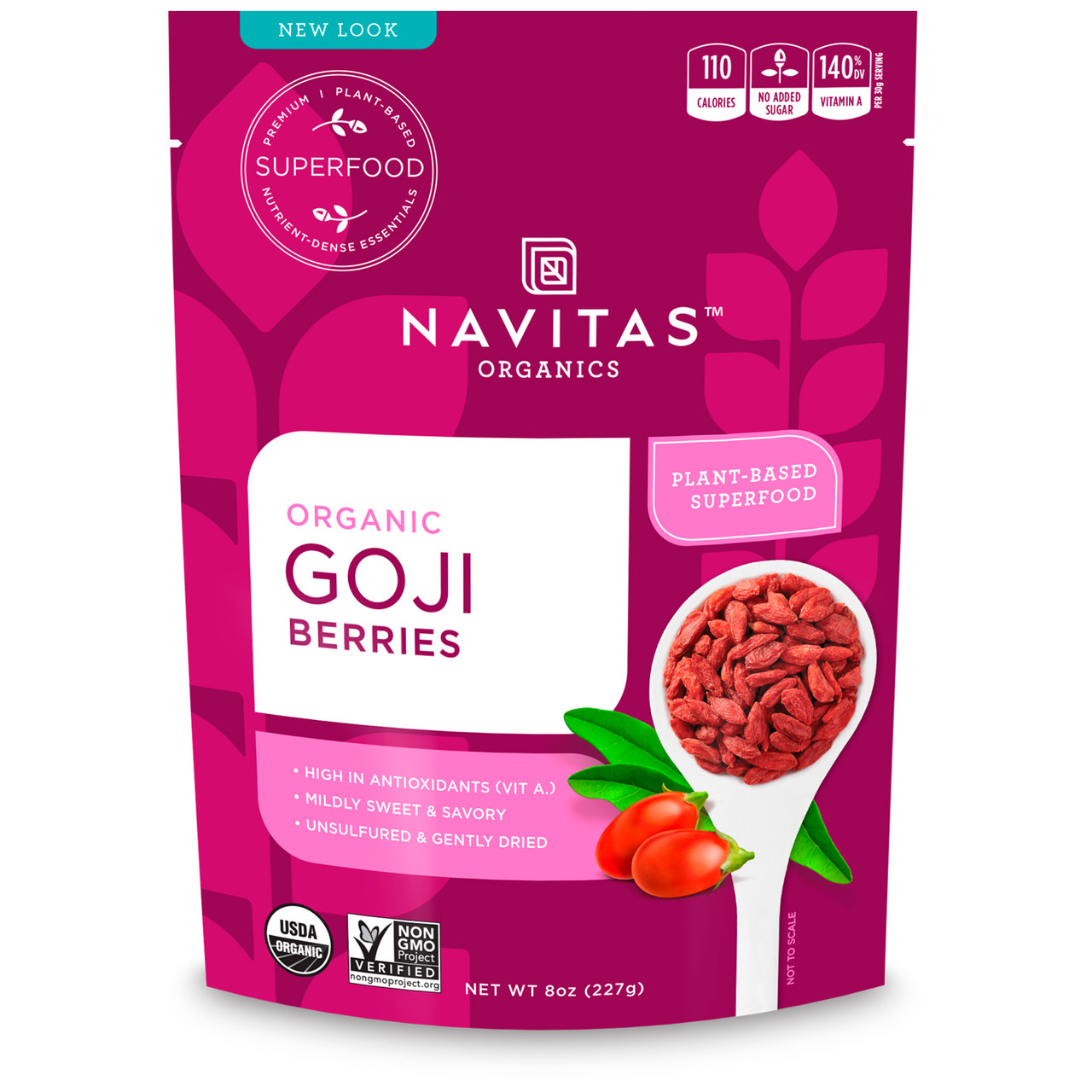 Navitas Organics, Organic, Goji Berries, 8 oz (227g)