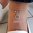 Браслет на ногу серебро 925 пробы с висюльками Часики - Серебряный браслет на ногу, фото 3