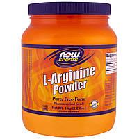 Now Foods, Для спортсменов, Порошок L-аргинина, 1 кг (2,2 фунта)