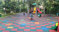 Резиновое покрытие. Плитка для детских площадок. Ландшафтный дизайн.