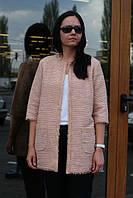 Жакет Nklook удлиненный в стиле Шанель розовый, фото 1