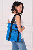 Синяя сумка-тоут AIR с принтом