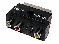 Переходник Scart AV с переключателем