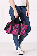 Черно-розовая сумка-баул TEREX с принтом оп-арт