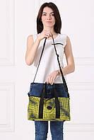 Черно-желтая сумка-баул TEREX с принтом оп-арт