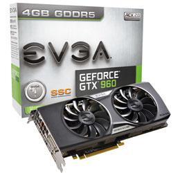 """Видеокарта EVGA GTX960 Super SC 4Gb GDDR5 """"Over-Stock"""" Б/У"""