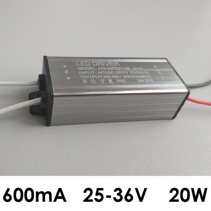 Драйвер для светодиодов 20 Вт, 600 мА, 25-36 В