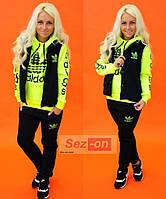 Костюм спортивный женский тройка Adidas Черный