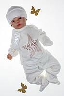 Комплект на виписку новонароджених з распашонкой, штаниками і шапочкою, Карапуз