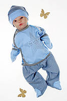 Комплект на виписку новонароджених з распашонкой, штаниками і шапочкою,Зорепад
