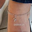 Серебряный браслет на ногу с висюльками - Браслет на ногу серебро 925 , фото 2
