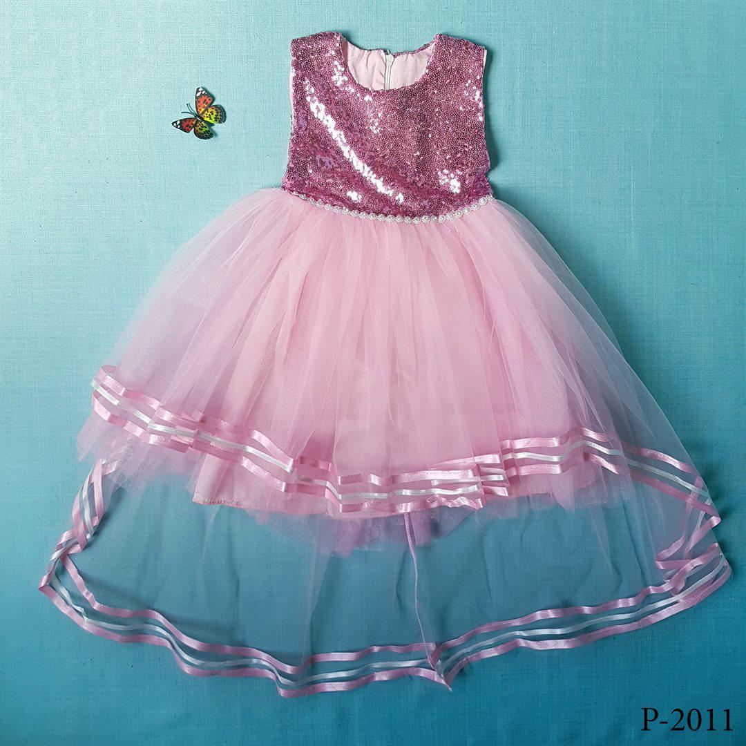 ddb10070a1430b2 Опт Детское нарядное платье с пайетками для девочки 5-8 лет Розовое  выпускное