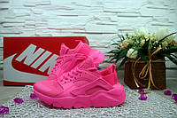 Женские кроссовки Nike huarache Розовые