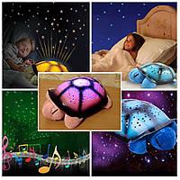 Музыкальный ночник «Черепашка», проектор звездного неба Twilight turtle +USB шнур!!, Скидки